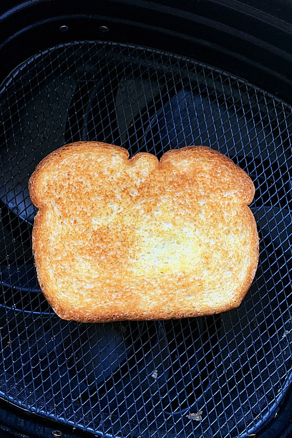 grilled cheese in the air fryer basket