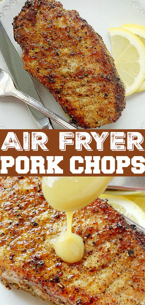 Air Fryer Pork Chops | Foodtastic Mom #airfryerrecipes #porkchoprecipes