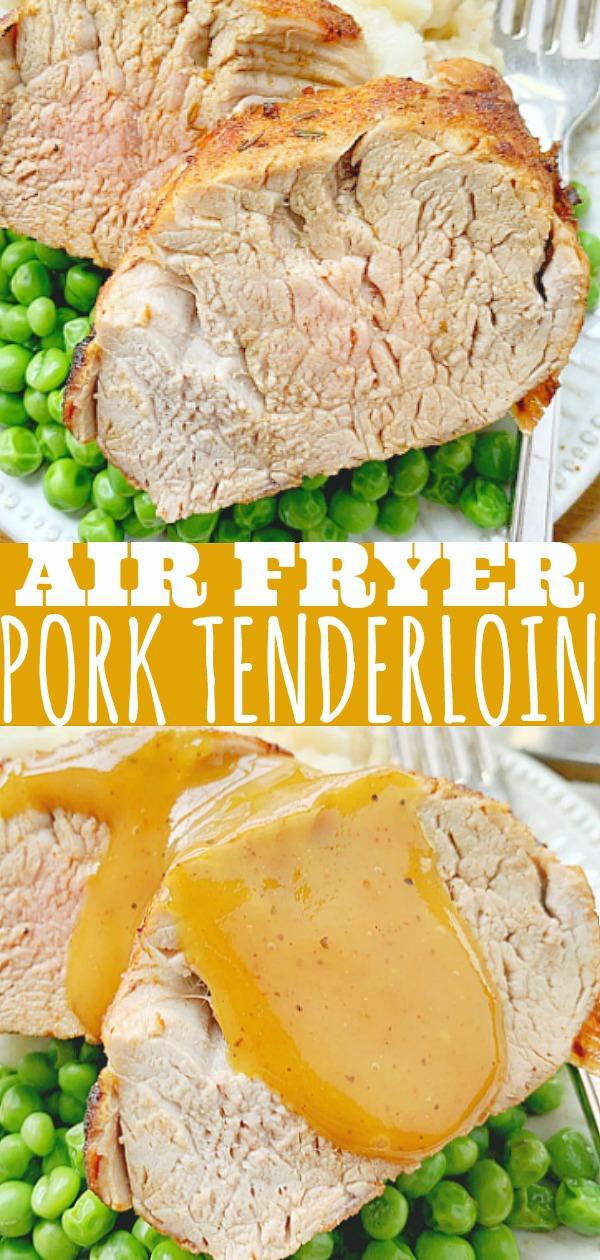 Air Fryer Pork Tenderloin | Foodtastic Mom #airfryerrecipes #airfryerporktenderloin #porktenderloinrecipes #ad #ohpork
