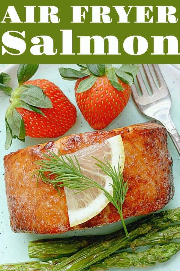 Air Fryer Salmon | Foodtastic Mom #airfryersalmon #airfryerrecipes #salmonrecipes via @foodtasticmom