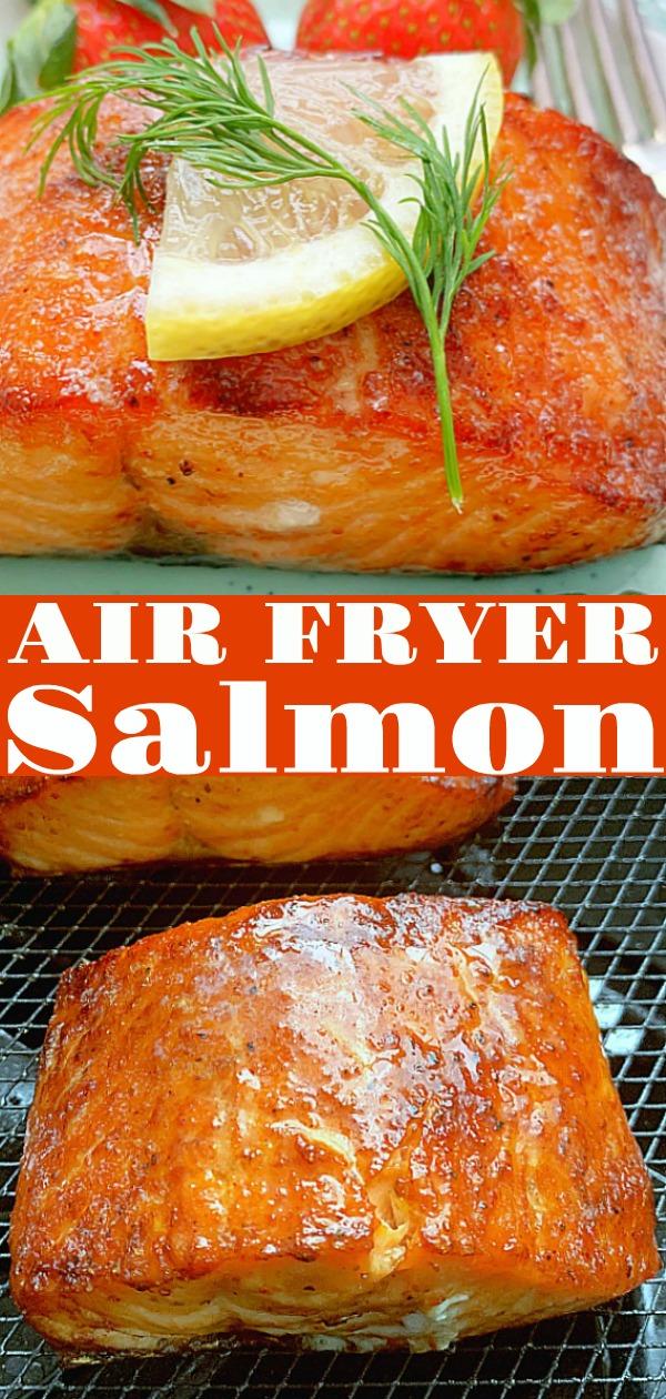 Air Fryer Salmon | Foodtastic Mom #airfryersalmon #airfryerrecipes