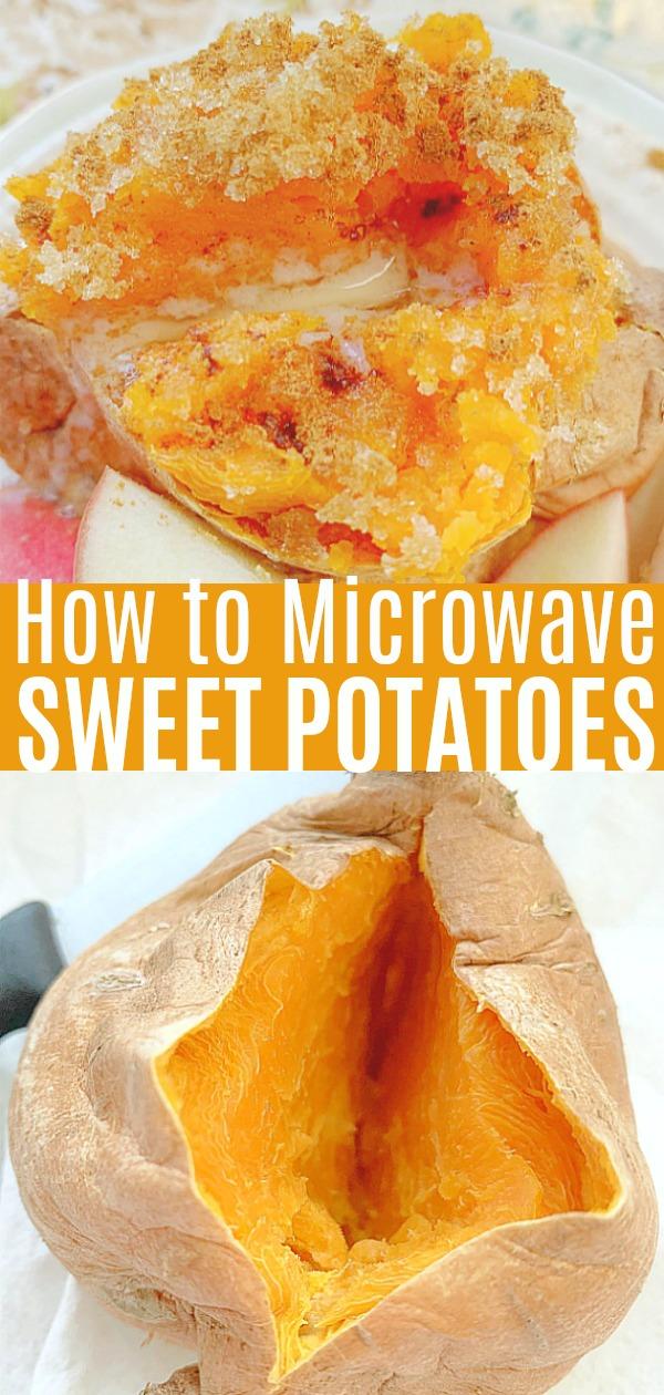 How to Microwave a Sweet Potato | Foodtastic Mom #microwavesweetpotato