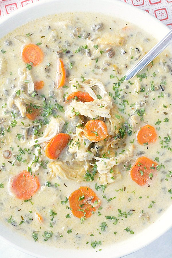 beer cheese chicken and wild rice soup