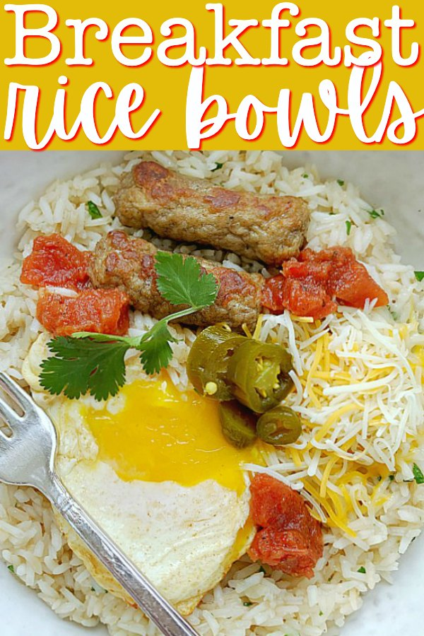 Breakfast Rice Bowls | Foodtastic Mom #breakfastideas #ricerecipes
