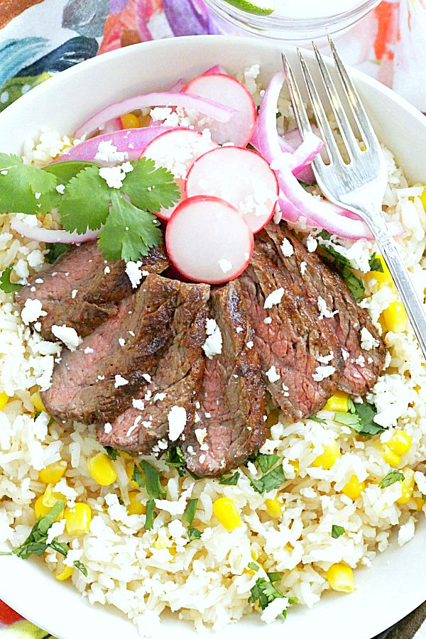 grilled carne asada burrito bowl