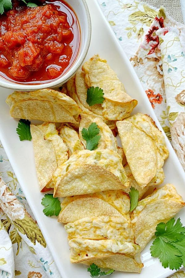 mini tacos on a platter