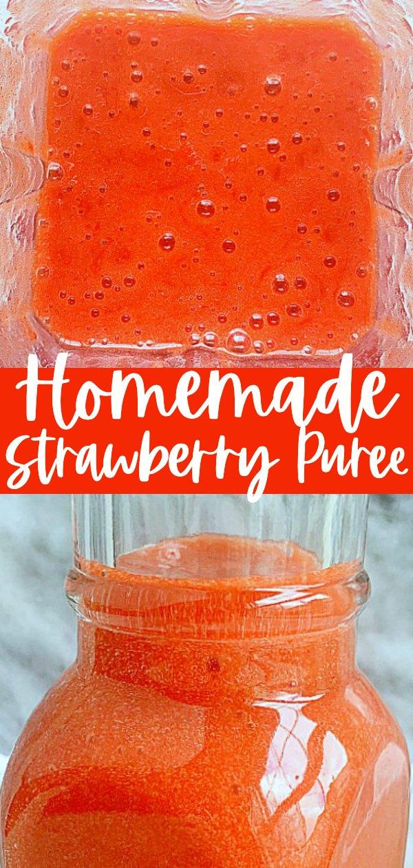 How to Make Strawberry Purée | Foodtastic Mom #strawberryrecipes #strawberrypuree