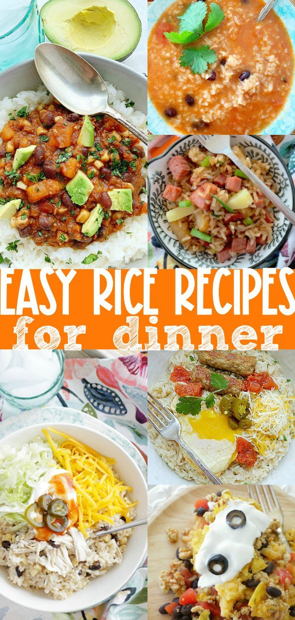 Easy Rice Recipes for Dinner | Foodtastic Mom #ricerecipes #ricedinners