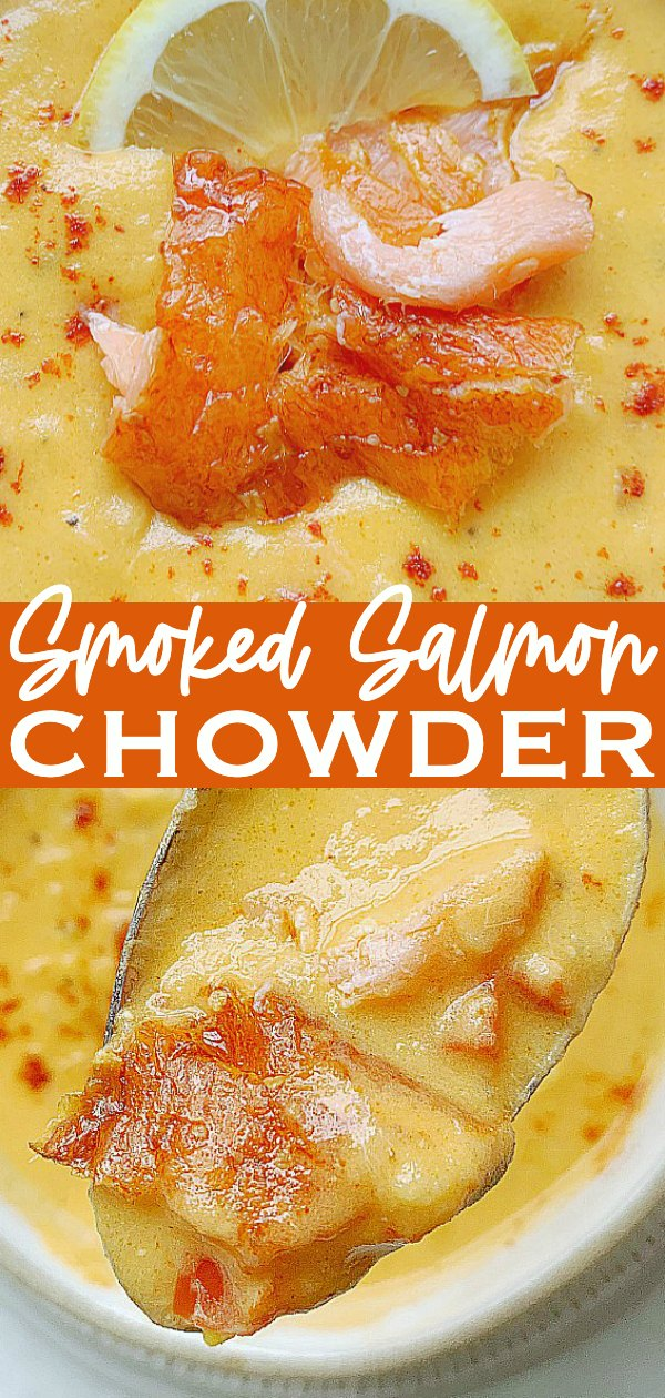 Smoked Salmon Chowder | Foodtastic Mom #salmonrecipes #chowderrecipes