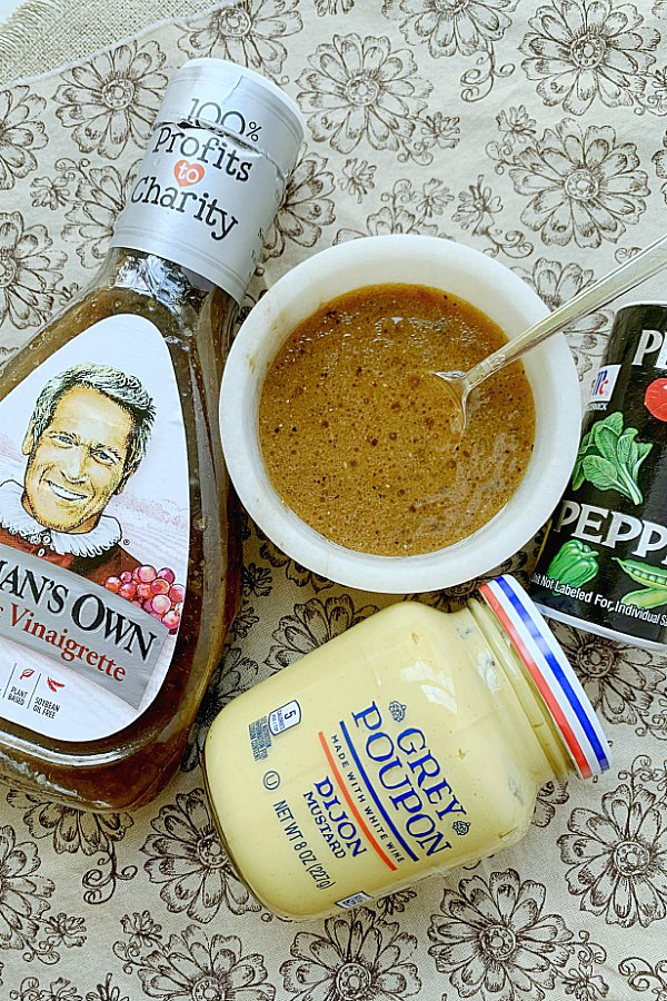 ingredients for french vinaigrette