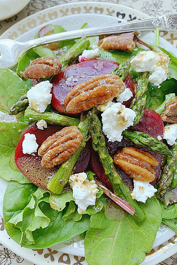 close up view of french salad