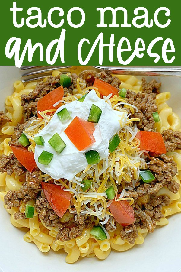Taco Mac and Cheese | Foodtastic Mom #tacorecipes #macandcheese