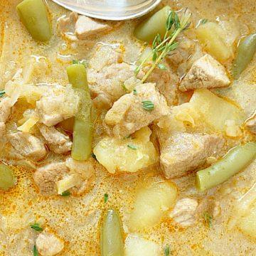 bowl of pork stew