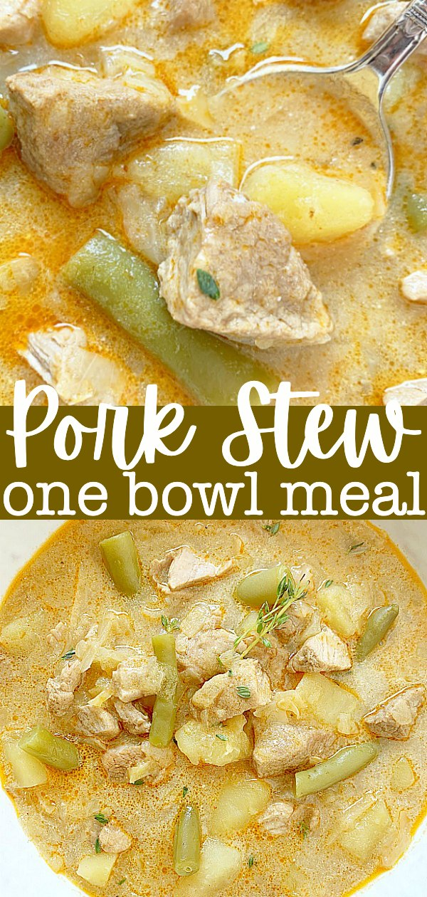 Pork Stew | Foodtastic Mom #porktenderloinrecipes #porkstew