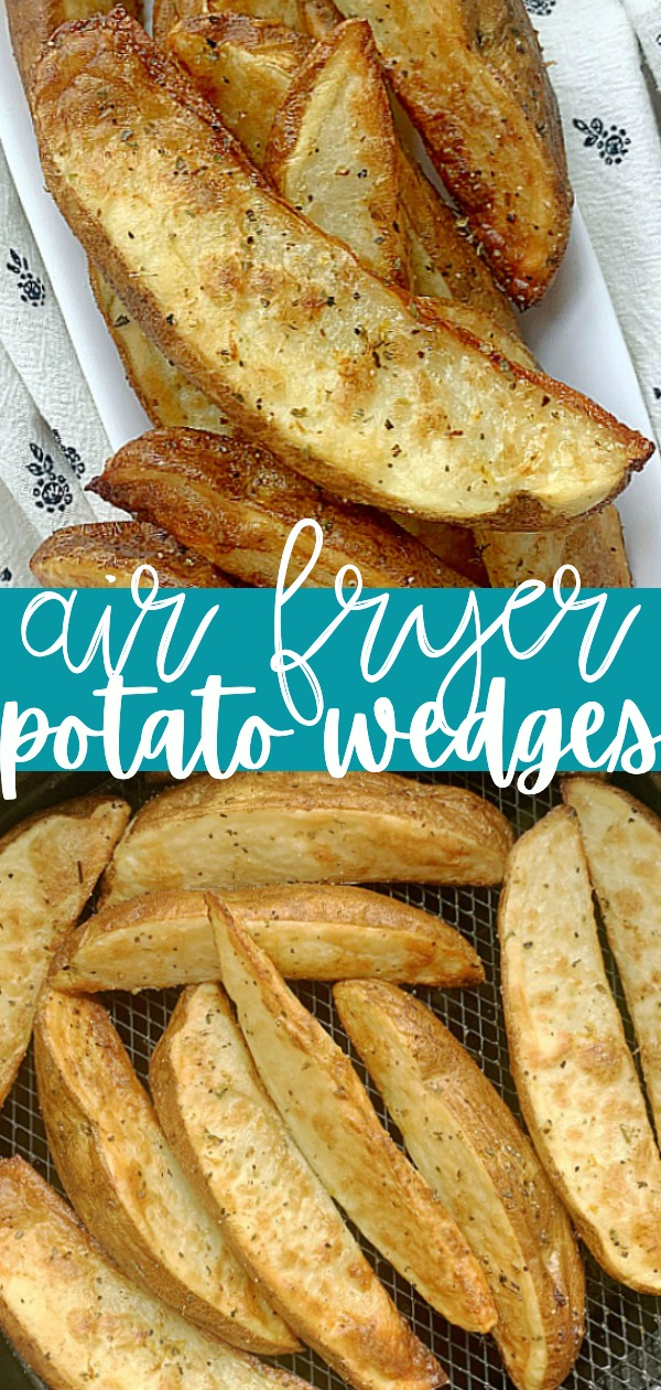 Air Fryer Potato Wedges | Foodtastic Mom #potatowedgesairfryer #airfryerrecipes
