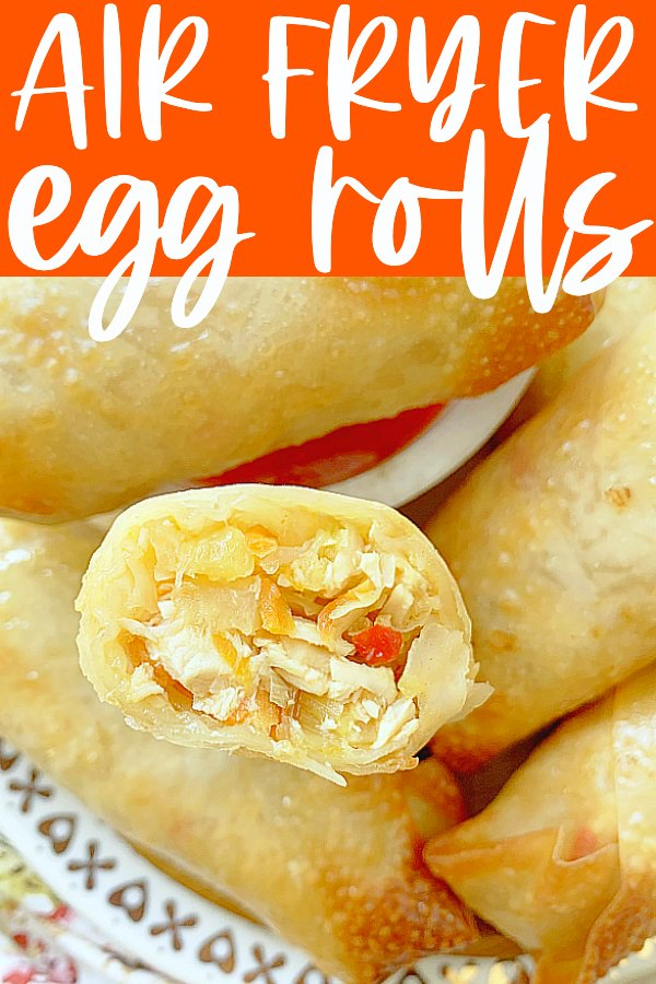 Air Fryer Egg Rolls | Foodtastic Mom #airfryerrecipes #eggrolls