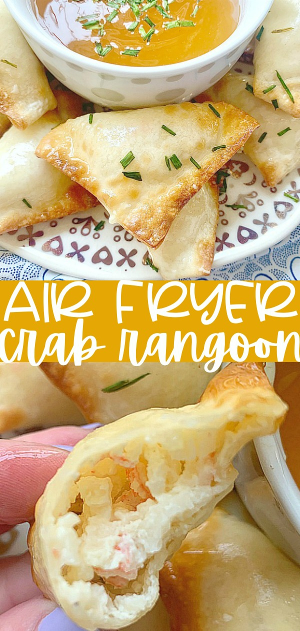 Air Fryer Crab Rangoon | Foodtastic Mom #airfryerrecipes #crabrangoon #airfryercrabrangoon