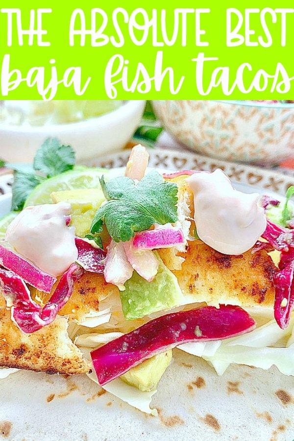 Baja Fish Tacos | Foodtastic Mom #fishtacos #bajafishtacos