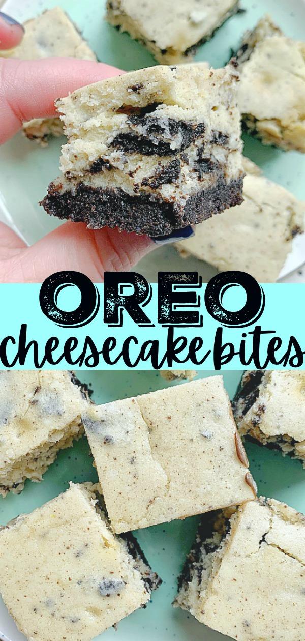 Oreo Cheesecake Bites   Foodtastic Mom #oreocheesecake #oreodessert