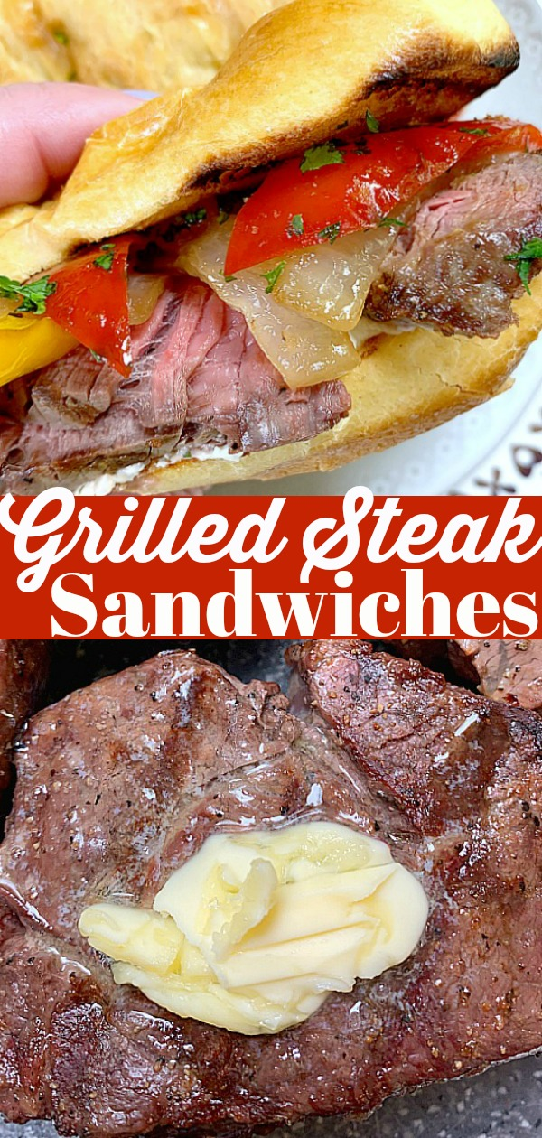 Grilled Steak Sandwiches | Foodtastic Mom #ad #ohiobeef #steaksandwichrecipes #steakrecipes