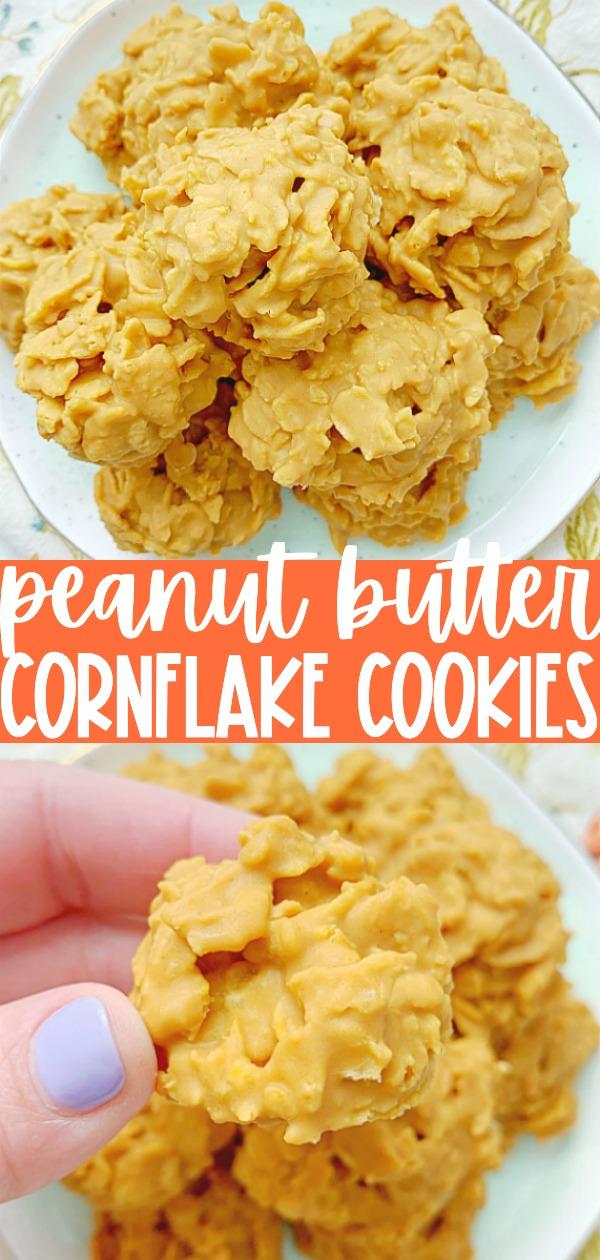 Peanut Butter Cornflake Cookies | Foodtastic Mom #cookierecipes #peanutbuttercornflakecookies