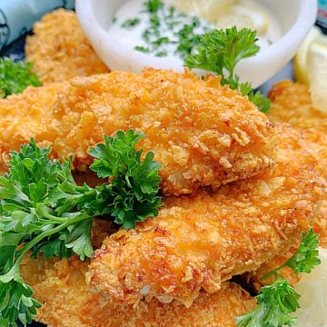 air fryer chicken tenders on a plate