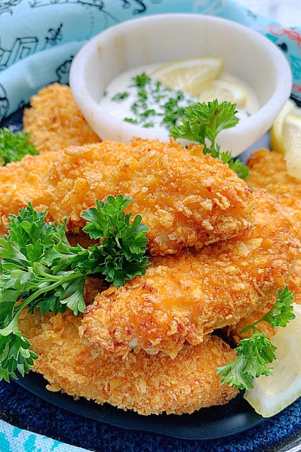 air fryer chicken tenders on a plate