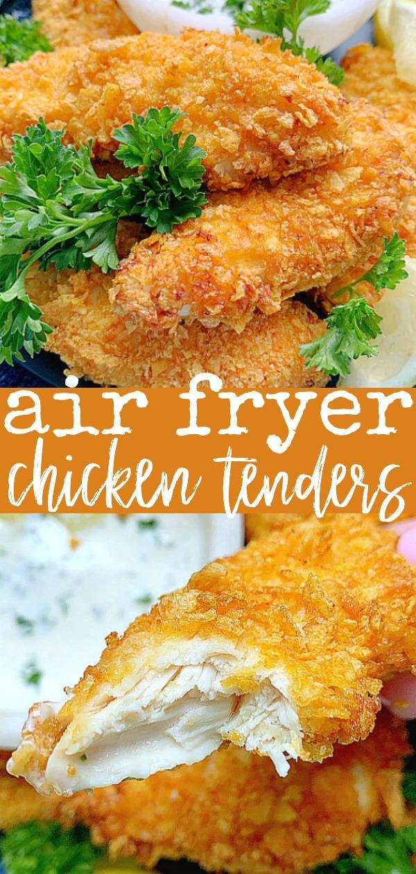 Air Fryer Chicken Tenders | Foodtastic Mom #airfryerrecipes #chickentenders #chickentendersairfryer