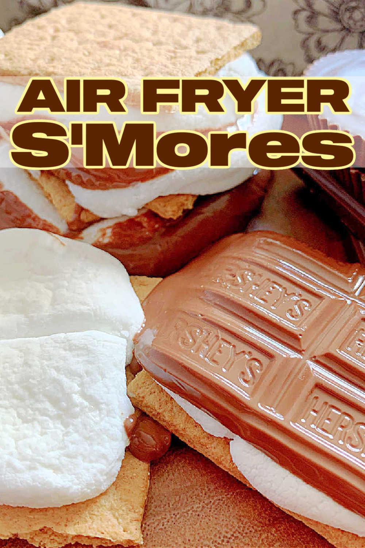 Air Fryer S'mores | Foodtastic Mom #airfryerrecipes #smoresdessert #airfryersmores via @foodtasticmom