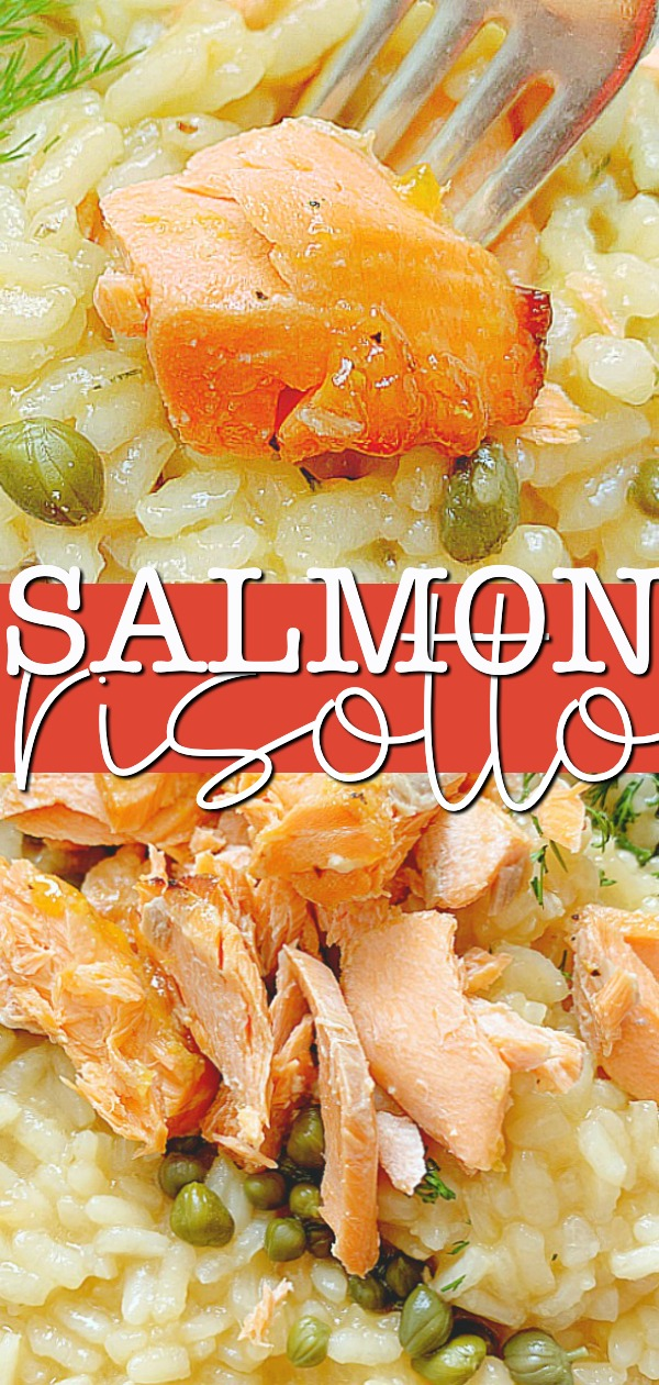 Salmon Risotto | Foodtastic Mom #salmonrisotto #risottorecipes #salmonrecipes