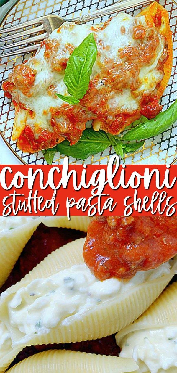 Conchiglioni Cheese Stuffed Shells | Foodtastic Mom #conchiglionipastarecipes #stuffedshells #cheesestuffedshells