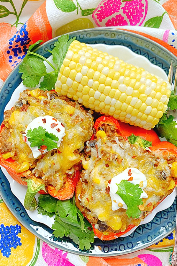 air fryer taco stuffed peppers