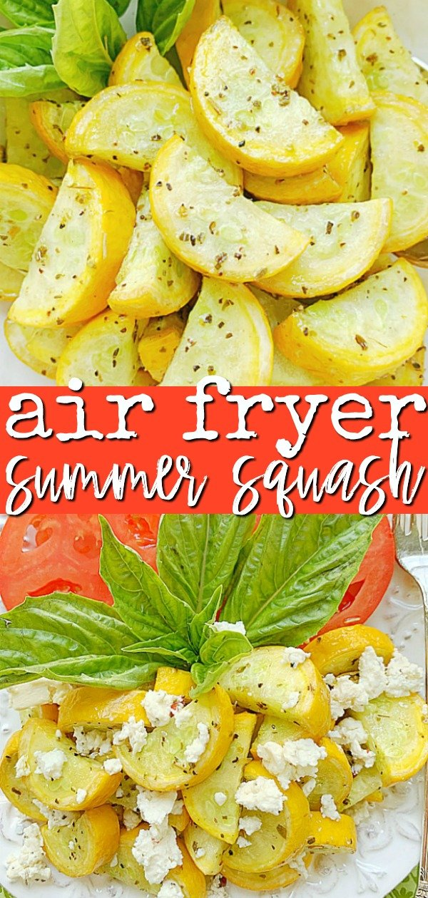 Air Fryer Squash | Foodtastic Mom #airfryerrecipes #squashrecipesyellow #airfryersquash