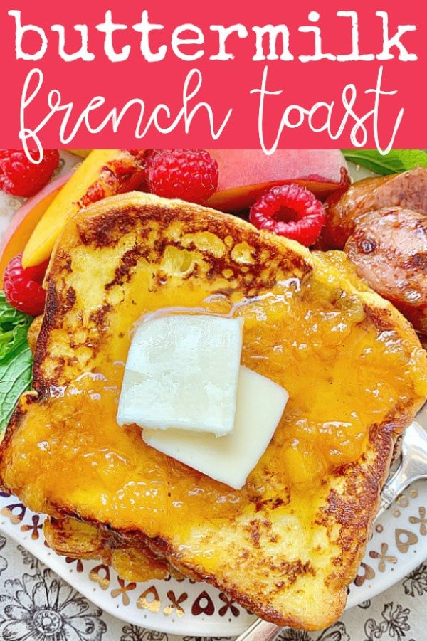 Buttermilk French Toast | Foodtastic Mom #frenchtoastrecipe #frenchtoast #buttermilkfrenchtoast via @foodtasticmom