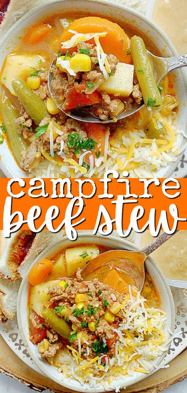 Campfire Beef Stew | Foodtastic Mom #ad #ohbeef #beefrecipes #beefstew