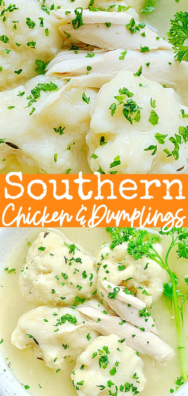 Southern Chicken and Dumplings | Foodtastic Mom #chickenanddumplings #chickenanddumplingsrecipe