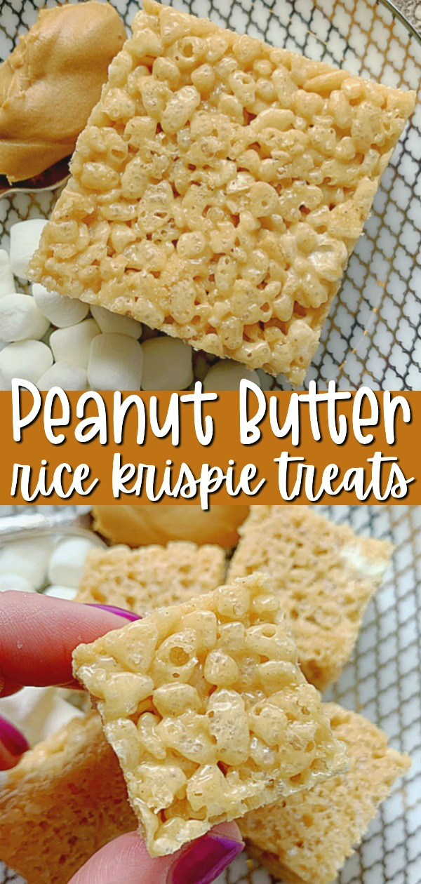 Peanut Butter Rice Krispie Treats   Foodtastic Mom #peanutbutterricekrispietreats #ricekrispietreats