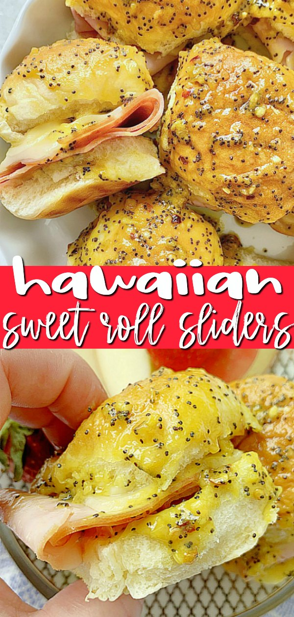 Hawaiian Sweet Roll Sliders | Foodtastic Mom #hawaiianrollsliders #hamandcheesesliders