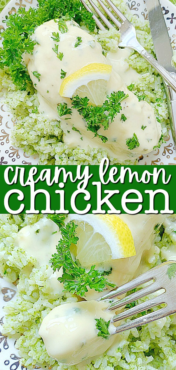 Creamy Lemon Chicken | Foodtastic Mom #creamylemonchicken #chickenrecipes #lemonchicken