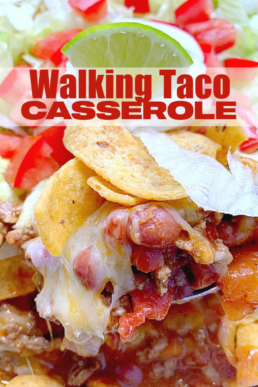 Walking Taco Casserole | Foodtastic Mom #walkingtaco #tacorecipes #walkingtacocasserole via @foodtasticmom