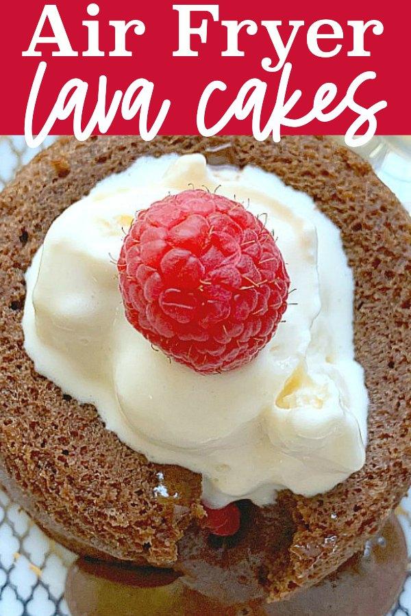 Air Fryer Lava Cakes | Foodtastic Mom #airfryerrecipes #airfryerdesserts #lavacake #airfryerlavacakes