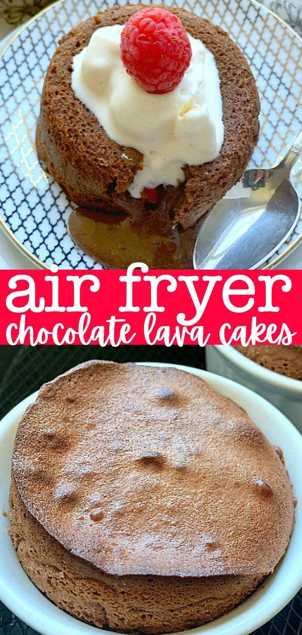 Air Fryer Lava Cakes | Foodtastic Mom #airfryerrecipes #airfryerdesserts #lavacake #airfryerlavacakes via @foodtasticmom
