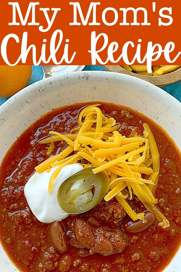 My Mom's Chili Recipe | Foodtastic Mom #chili #chilirecipe #chilirecipeeasy via @foodtasticmom