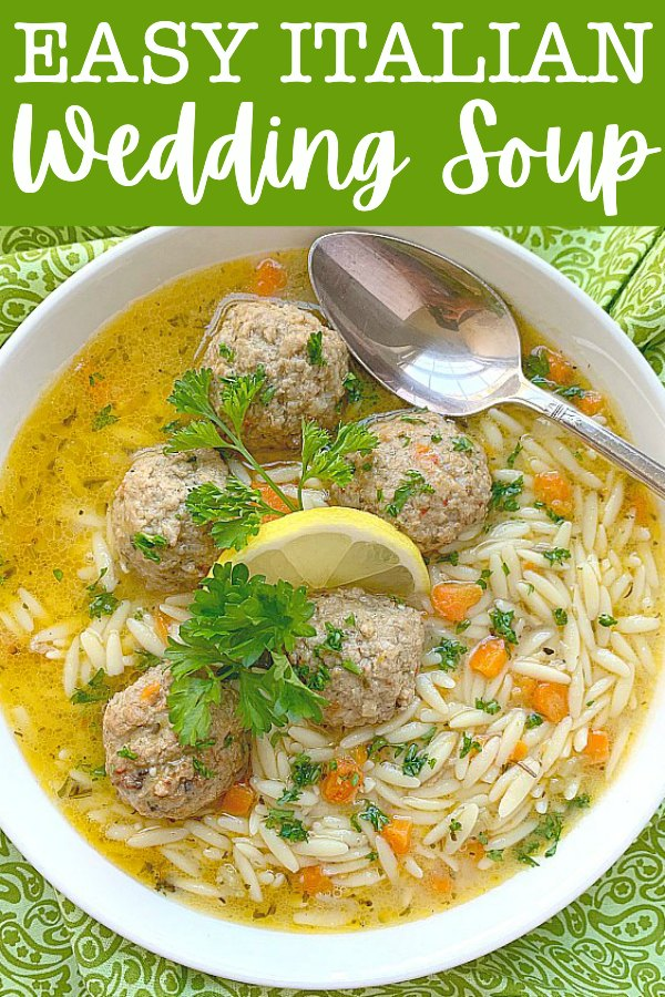 Easy Italian Wedding Soup | Foodtastic Mom #italianweddingsoup #souprecipes #frozenmeatballs via @foodtasticmom