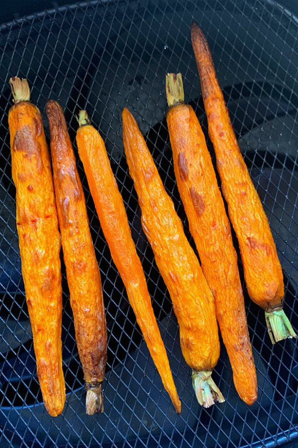 carrots in the air fryer basket