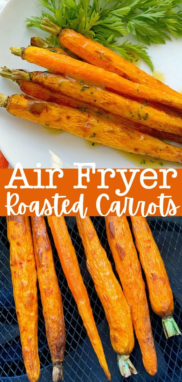 Air Fryer Carrots | Foodtastic Mom #airfryerrecipes #airfryercarrots #roastedcarrots #carrotrecipes via @foodtasticmom