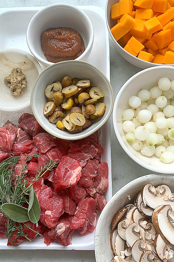 ingredients needed for chestnut beef stew
