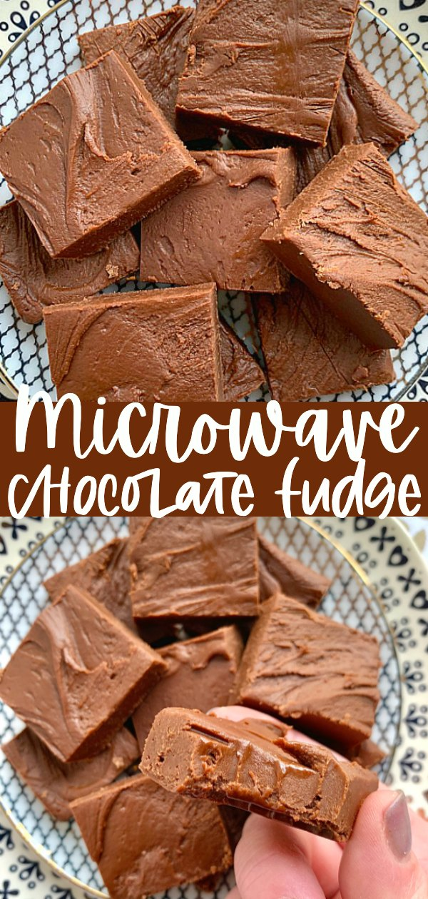 Mom's Microwave Fudge | Foodtastic Mom #fudgerecipes #fudgerecipeseasy #chocolatefudge #microwavefudge via @foodtasticmom