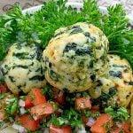 horizontal crop of air fryer turkey meatballs