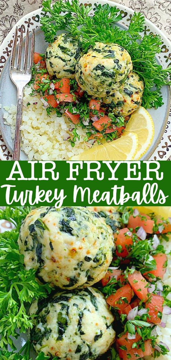 Air Fryer Turkey Meatballs | Foodtastic Mom #airfryerrecipes #healthyrecipes #meatballs #airfryerturkeymeatballs #mealprep via @foodtasticmom
